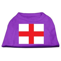 Mirage Pet Products St. George's Cross (English Flag) Screen Print Shirt Purple XXXL (20)