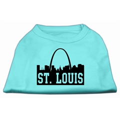 Mirage Pet Products St Louis Skyline Screen Print Shirt Aqua XXXL (20)