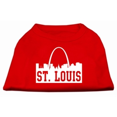 Mirage Pet Products St Louis Skyline Screen Print Shirt Red XL (16)
