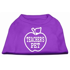 Mirage Pet Products Teachers Pet Screen Print Shirt Purple S (10)
