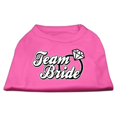 Mirage Pet Products Team Bride Screen Print Shirt Bright Pink Med (12)