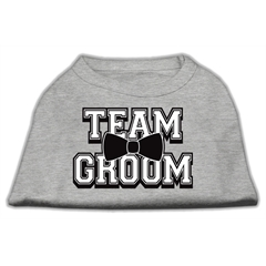 Mirage Pet Products Team Groom Screen Print Shirt Grey Med (12)