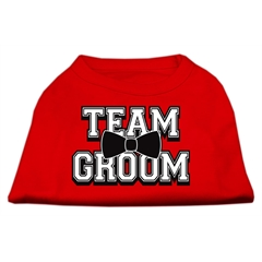 Mirage Pet Products Team Groom Screen Print Shirt Red Med (12)