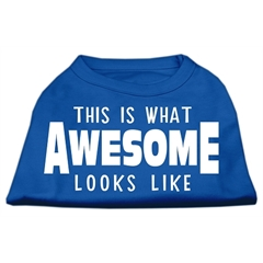 Mirage Pet Products This is What Awesome Looks Like Dog Shirt Blue XXXL (20)
