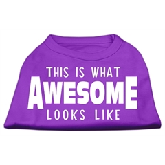 Mirage Pet Products This is What Awesome Looks Like Dog Shirt Purple Lg (14)