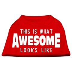 Mirage Pet Products This is What Awesome Looks Like Dog Shirt Red Med (12)