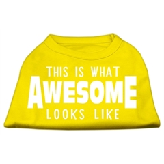 Mirage Pet Products This is What Awesome Looks Like Dog Shirt Yellow Med (12)