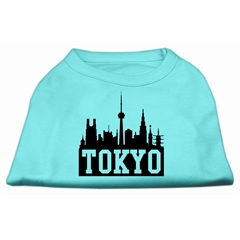 Mirage Pet Products Tokyo Skyline Screen Print Shirt Aqua XS (8)