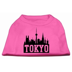 Mirage Pet Products Tokyo Skyline Screen Print Shirt Bright Pink XXL (18)