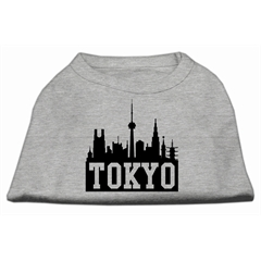 Mirage Pet Products Tokyo Skyline Screen Print Shirt Grey XL (16)