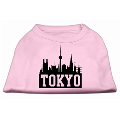 Mirage Pet Products Tokyo Skyline Screen Print Shirt Light Pink Sm (10)