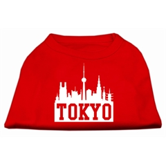 Mirage Pet Products Tokyo Skyline Screen Print Shirt Red Med (12)