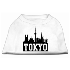 Mirage Pet Products Tokyo Skyline Screen Print Shirt White Lg (14)