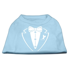 Mirage Pet Products Tuxedo Screen Print Shirt Baby Blue Sm (10)