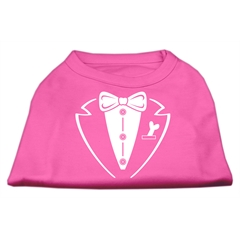 Mirage Pet Products Tuxedo Screen Print Shirt Bright Pink XXL (18)
