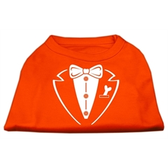 Mirage Pet Products Tuxedo Screen Print Shirt Orange Lg (14)
