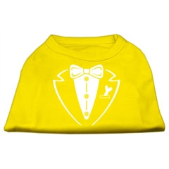 Mirage Pet Products Tuxedo Screen Print Shirt Yellow Lg (14)
