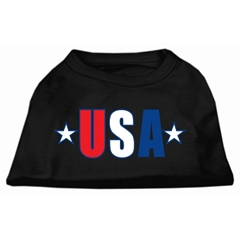 Mirage Pet Products USA Star Screen Print Shirt Black  Lg (14)