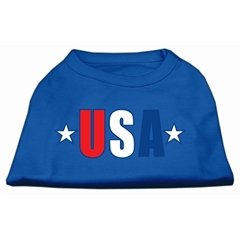 Mirage Pet Products USA Star Screen Print Shirt Blue Sm (10)
