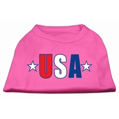 Mirage Pet Products USA Star Screen Print Shirt Bright Pink XS (8)