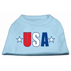 Mirage Pet Products USA Star Screen Print Shirt Baby Blue Med (12)