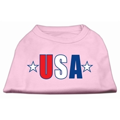 Mirage Pet Products USA Star Screen Print Shirt Light Pink XL (16)