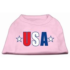 Mirage Pet Products USA Star Screen Print Shirt Light Pink Lg (14)
