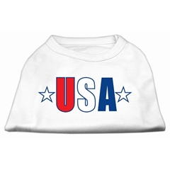 Mirage Pet Products USA Star Screen Print Shirt White Med (12)