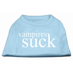 Mirage Pet Products Vampires Suck Screen Print Shirt Baby Blue XL (16)