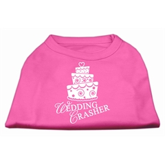 Mirage Pet Products Wedding Crasher Screen Print Shirt Bright Pink Med (12)