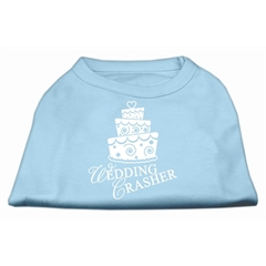 Mirage Pet Products Wedding Crasher Screen Print Shirt Baby Blue Med (12)