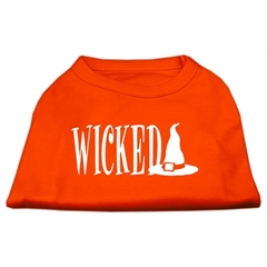 Mirage Pet Products Wicked Screen Print Shirt Orange Lg (14)