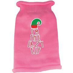 Mirage Pet Products Lazy Elf Screen Print Knit Pet Sweater Light Pink XS (8)