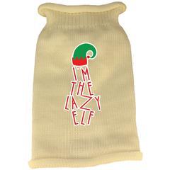 Mirage Pet Products Lazy Elf Screen Print Knit Pet Sweater Cream XS (8)
