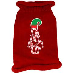 Mirage Pet Products Lazy Elf Screen Print Knit Pet Sweater Red XS (8)