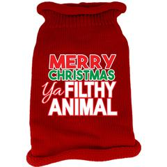 Mirage Pet Products Ya Filthy Animal Screen Print Knit Pet Sweater Red XS (8)