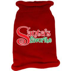 Mirage Pet Products Santas Favorite Screen Print Knit Pet Sweater Red XS (8)