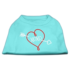 Mirage Pet Products XOXO Screen Print Shirt Aqua Med (12)