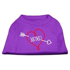 Mirage Pet Products XOXO Screen Print Shirt Purple Lg (14)