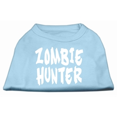 Mirage Pet Products Zombie Hunter Screen Print Shirt Baby Blue XL (16)