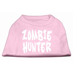 Mirage Pet Products Zombie Hunter Screen Print Shirt Light Pink L (14)
