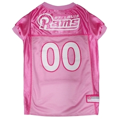 Mirage Pet Products St. Louis Rams Pink Jersey MD