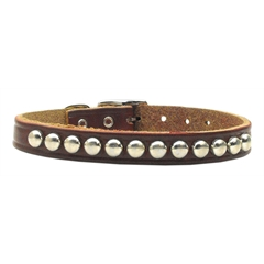 Mirage Pet Products Stud Leather Burgundy 18