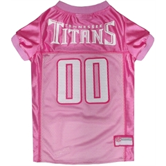Mirage Pet Products Tennessee Titans Pink Jersey LG