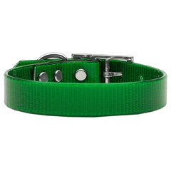 Mirage Pet Products Plain Tropical Jelly Collars Emerald Green Med
