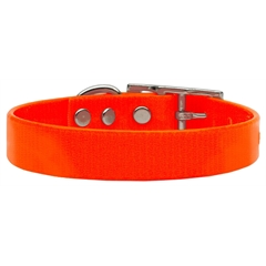 Mirage Pet Products Plain Tropical Jelly Collars Orange Med
