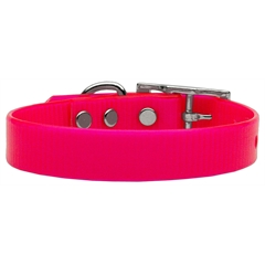 Mirage Pet Products Plain Tropical Jelly Collars Pink Med