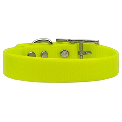 Mirage Pet Products Plain Tropical Jelly Collars Yellow Med