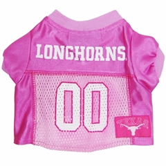 Mirage Pet Products Texas Longhorns Pink Jersey SM