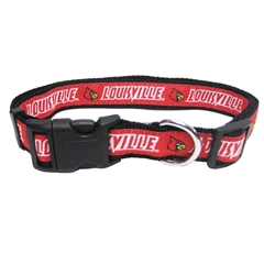 Mirage Pet Products Louisville Cardinals Collar Medium